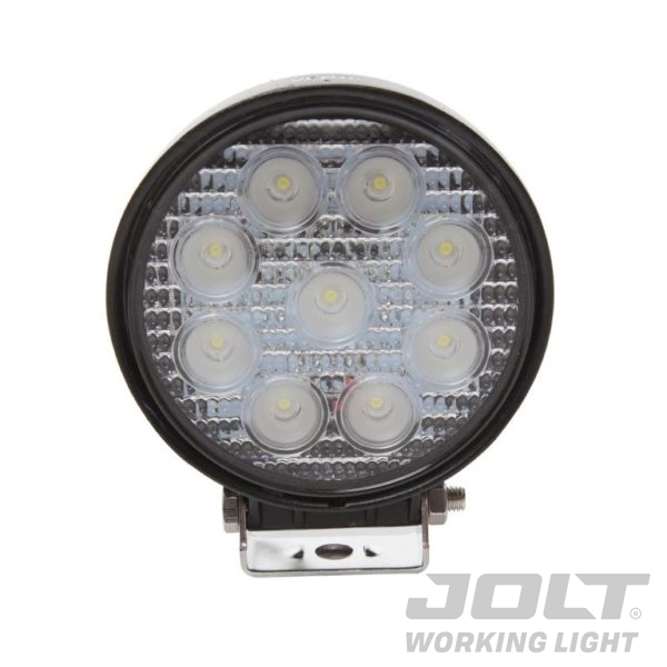 Jolt 27W Round 9 LED Work Light - Wide Flood Beam