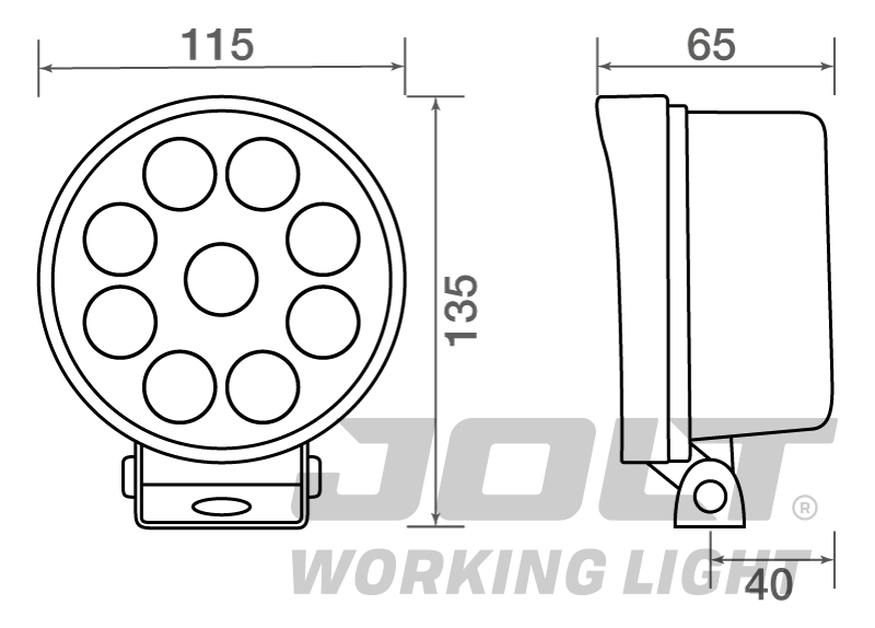 TXL9527L dimensions