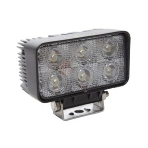 18W Rectangle 6 LED Work Light - Wide Flood Beam