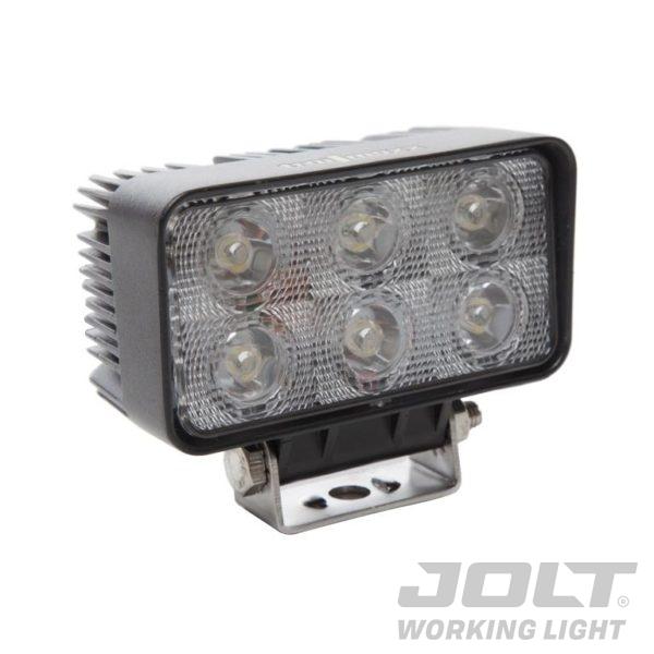 18W Rectangle 6 LED Work Light - Wide Flood Beam