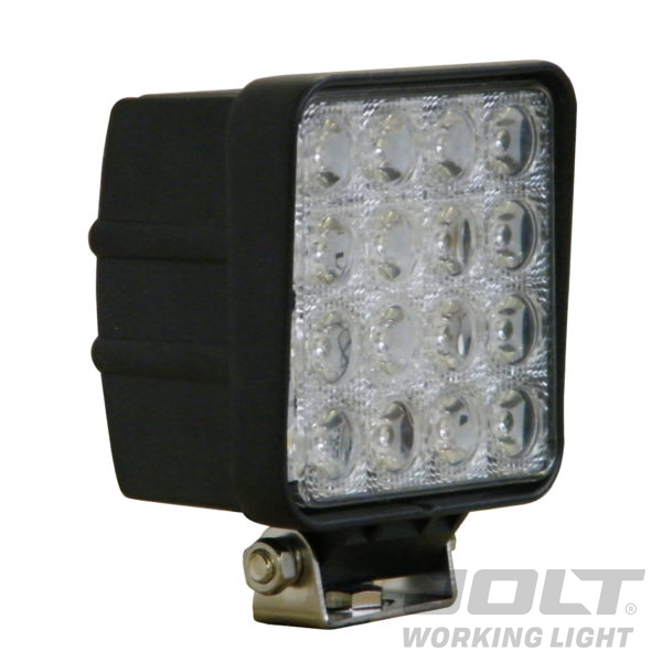 Jolt 48W Square 16LED Work Light wide flood beam
