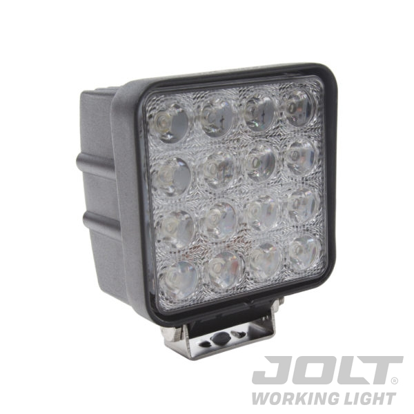 Jolt 48W Square 16 LED Work Light - Narrow Flood Beam