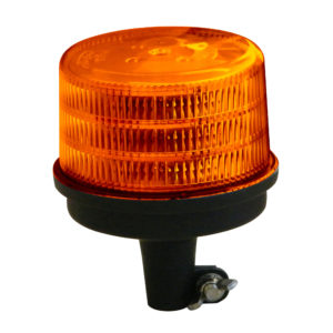 Large Jolt LED Amber Flash Beacon pole mount