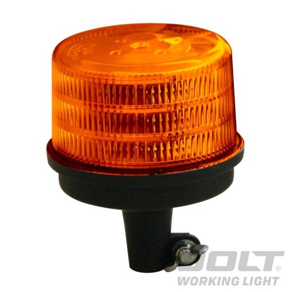 Large Jolt LED Amber Flash Beacon pole mount