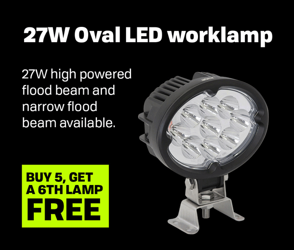 27W Oval LED Work Lamp