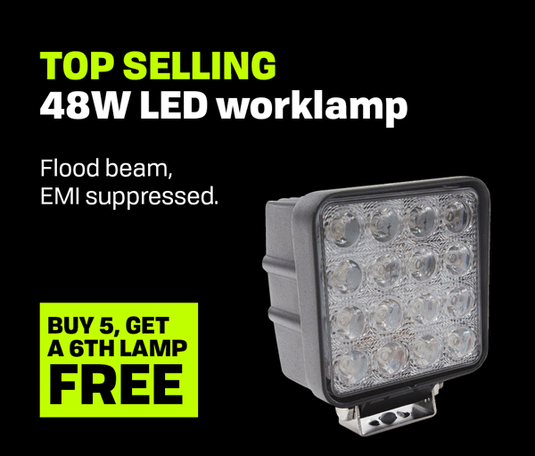48W High Powered 16 LED Work Lamp